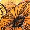 Umbrellas drying in the sun in Bagan, Myanmar.