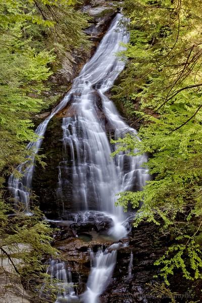 Moss Glen Falls, Stowe, Vermont.