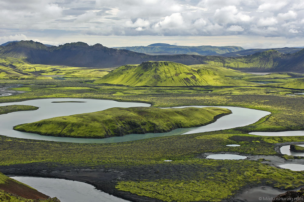 The river Skafta in a picturesque landscape @ Lyngfellsgigar Iceland 31Jul10