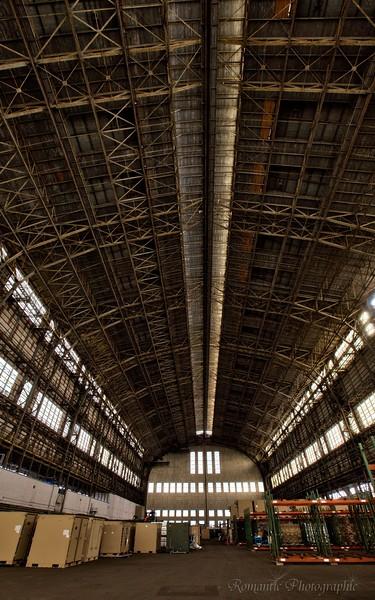Hangar No. 1 interior, Lakehurst, NJ.