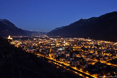 View over Martigny into the Valais @ Martigny Switzerland 16Jan11