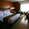 Newly refurbished Bangkok Marriott hotel room.