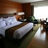 Newly refurbished Bangkok Marriott hotel room.