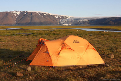 That's vacation - camping in front of Skridufell @ Hvitarnes Iceland 1Aug09