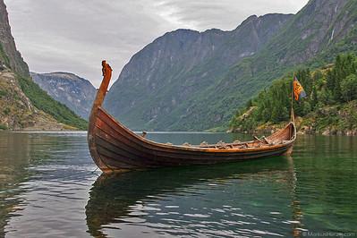 Viking boat NJARDAR @ Gudvangen Norway 14Jul07