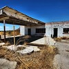 Abandoned gas station cafe in Texas near the New Mexico border.