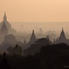 Dawn on the plain of Bagan.