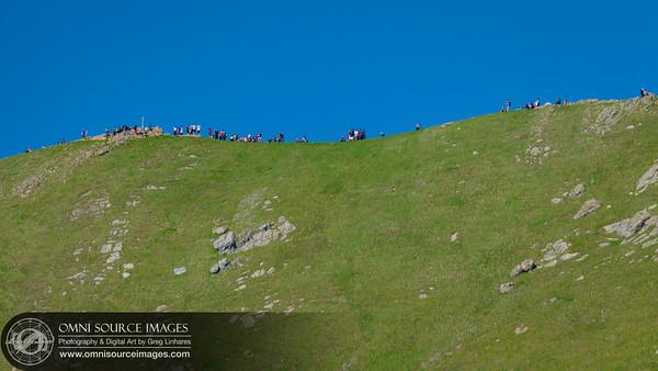 Hikers on Summit of Mission Peak - Fremont, CA