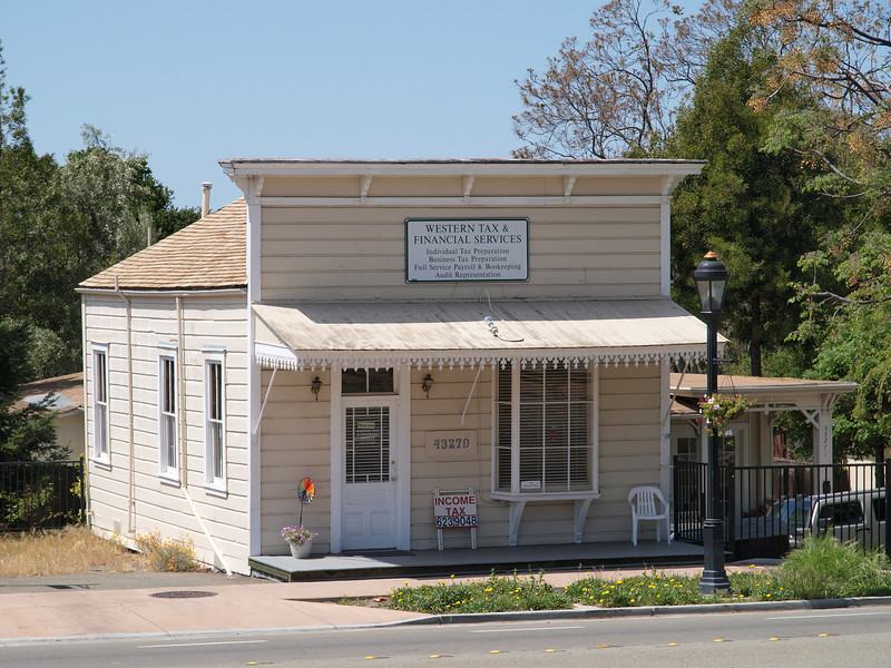 Western Tax and Financial Services, in front of Mission San Jose
