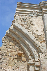 6/30/10 Pillars along the Great Stone Church, destroyed by an earthquake on December 8, 1812.