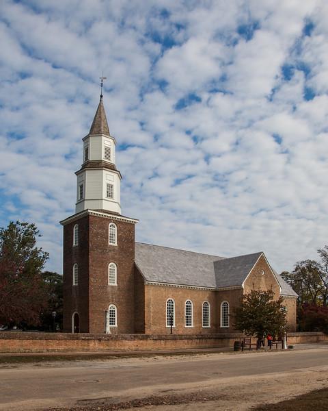 Bruton Parish Church in Colonial Willaimsburg Virginia