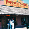 Charlie, Louise and Randal at Pepper Bellies For Lunch - Award Trip from Allred's to Timeshare in Branson, MO  4-11 to 4-18, 1998