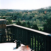 View From Balcony Off Our Bedroom - Award Trip from Allred's to Timeshare in Branson, MO  4-11 to 4-18, 1998