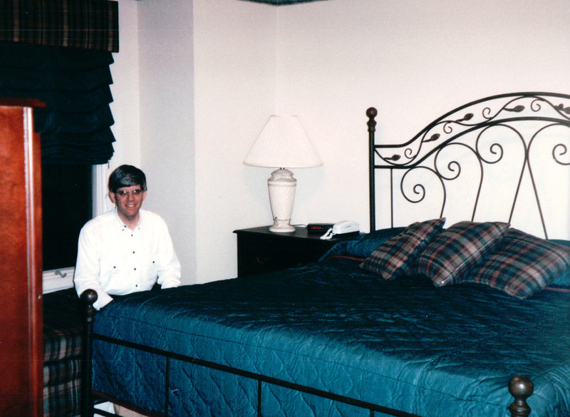 Randal - Our Bedroom in Villa - Award Trip from Allred's to Timeshare in Branson, MO  4-11 to 4-18, 1998