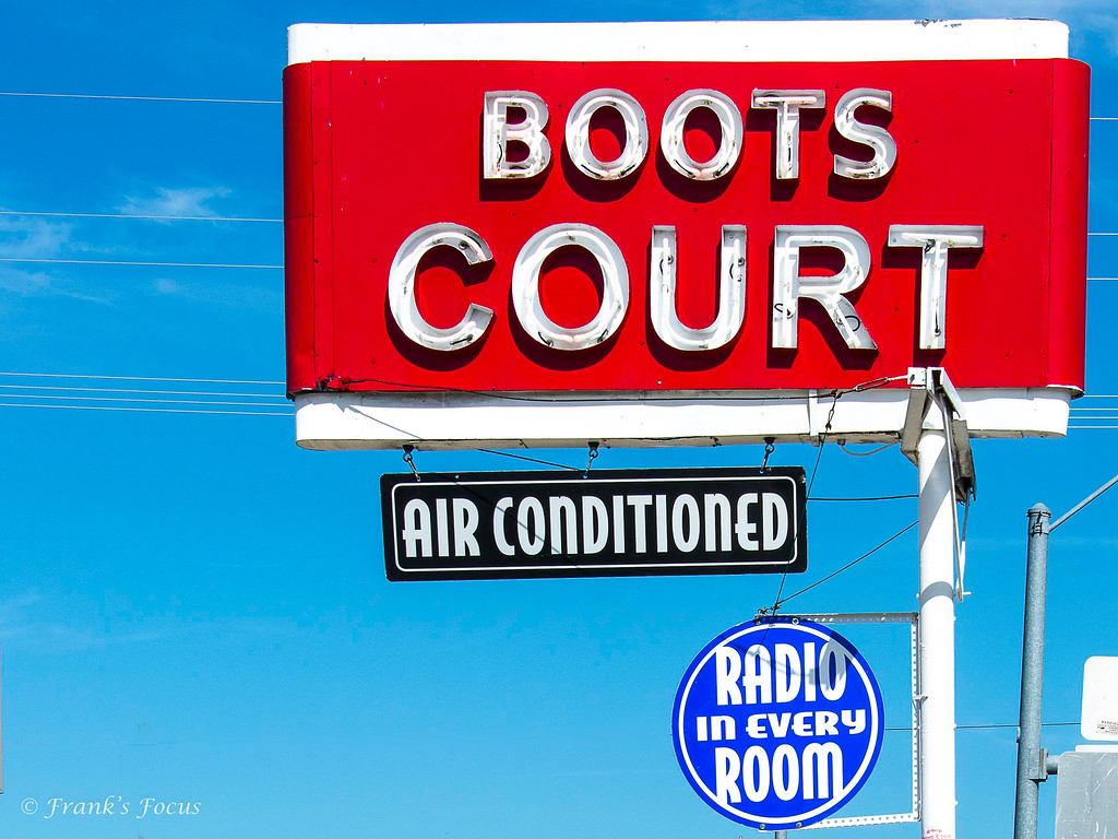 Boots Court -- an old Motor Hotel along old U.S. 66 in Carthage, Missouri.