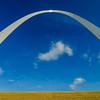 gateway arch sculpture in St Louis Missouri