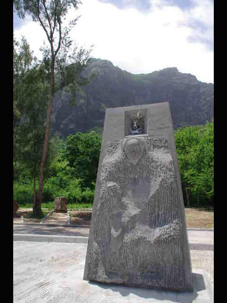 The UNESCO monument at Le Morne