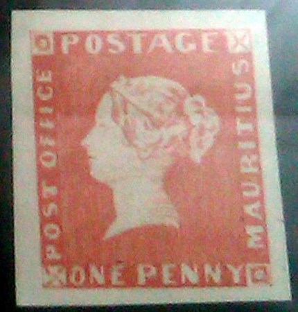 "The famous ""Post Office"" stamp of Mauritius"