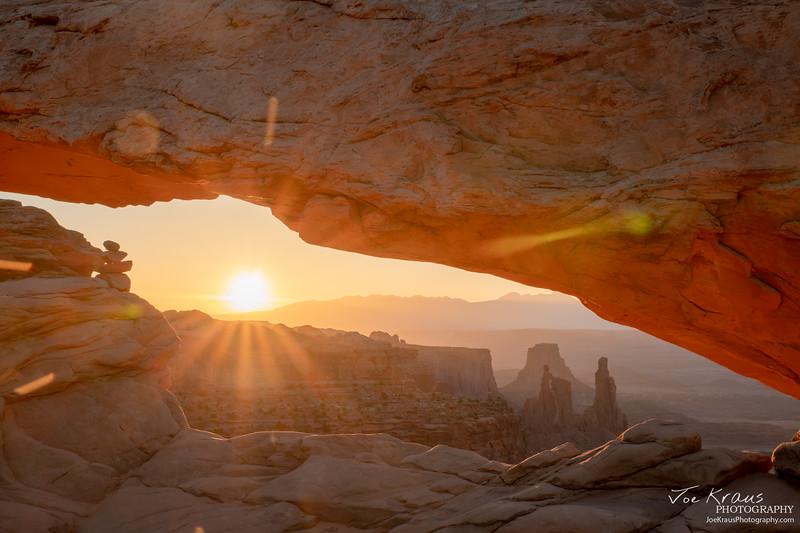 Peeking under Mesa Arch