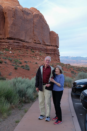 Arriving at Arches National Park, evening.