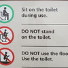 Helpful instructions at the Delicate Arch viewpoint.