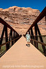 Phil on the Colorado River Pedestrian Bridge in Moab; best viewed in the largest sizes