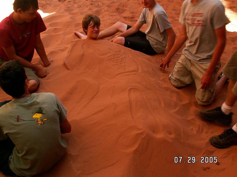 BH1 Varsity Scouts, Team 6287, burying Spencer
