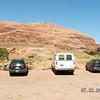 Varsity Scout Team 6287, parking near Powerhouse Falls.  (It's hidden down in that desert-looking area.)
