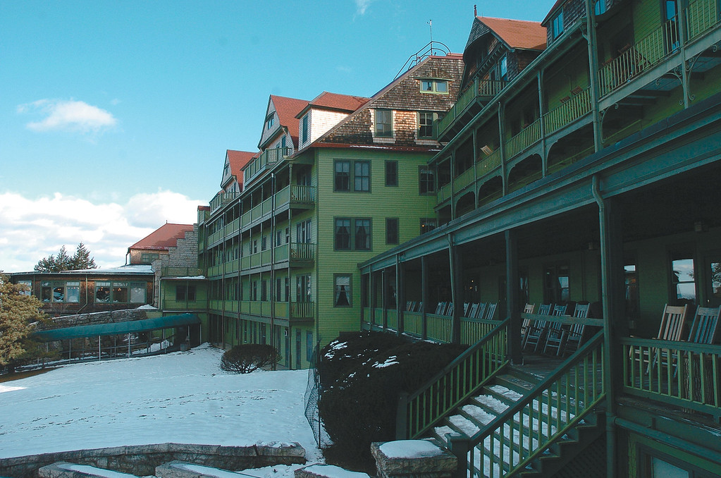 . The front of Mohonk Mountain House