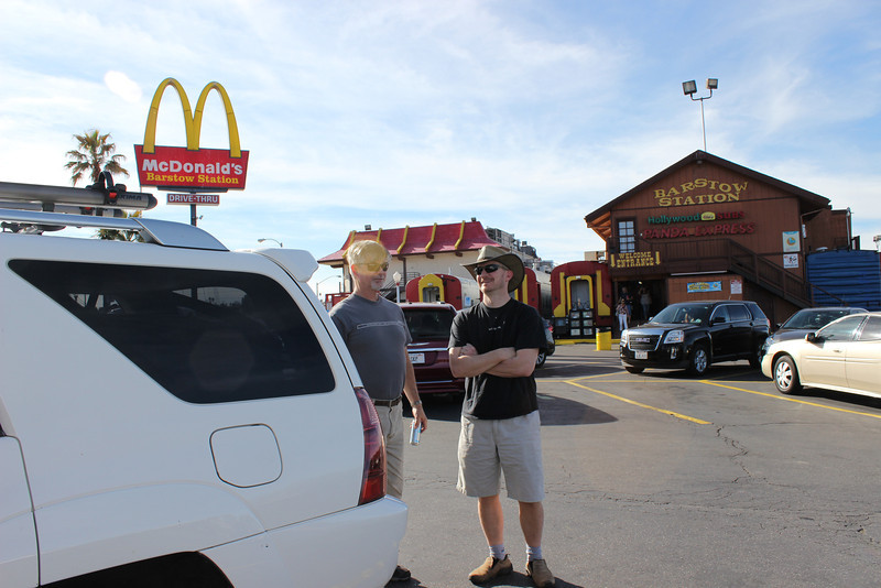 Jim and Matt<br /> John was running late due to a traffic accident and would catch up with us on the road to Avi Casino near Needles,Ca.
