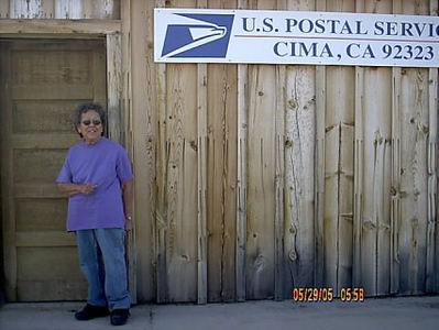 Postmaster <br /> This nice lady is the postmaster and store owner.She told us some of the local history of the area.