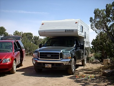 Mid Hills Campground <br /> Site #1,is a large site that handle both our vehicles and equipment.