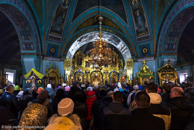 The sunday service at St. Theodor Tiron Convent