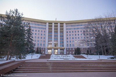 Parliament building of Moldova