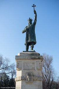 Stephen the Great Monument in front of the Stephen the Great Park