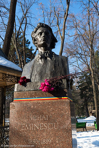 Mihai Eminescu statue at Stephen the Great Park