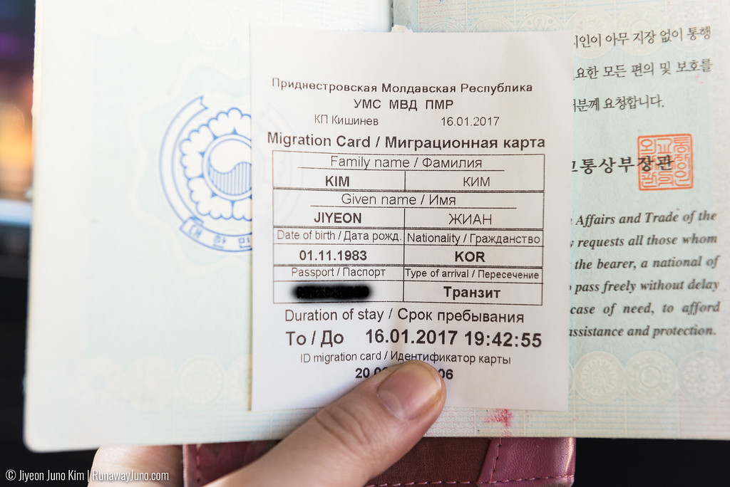 The permission to visit Transnistria for a day