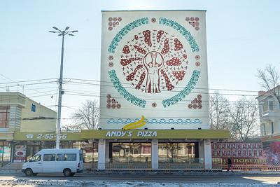 Murals in Tiraspol
