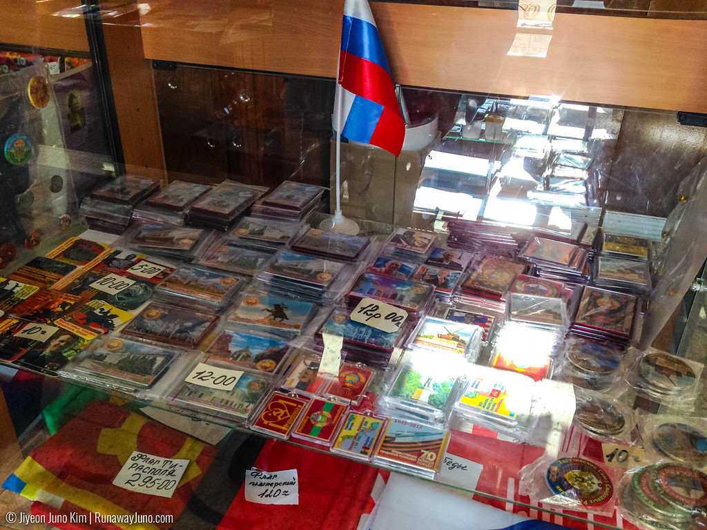 Buying souvenirs in Tiraspol