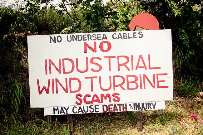 wind turbine protest