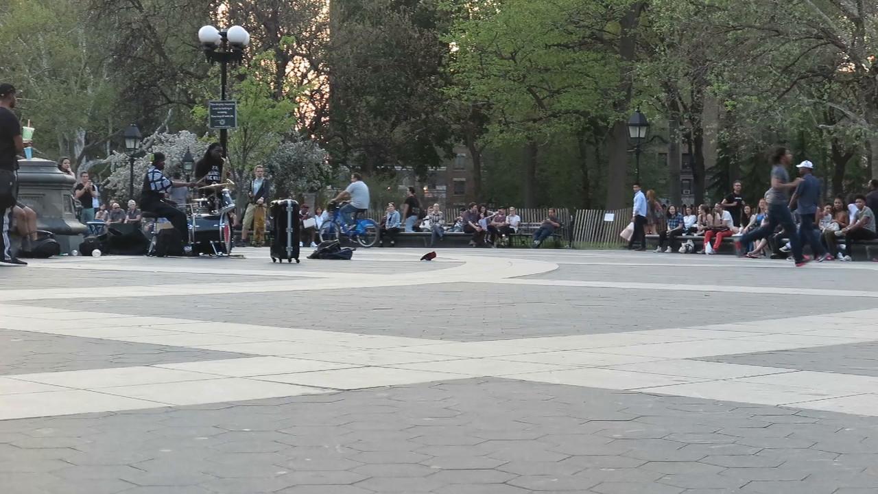 Washington Square street performer.
