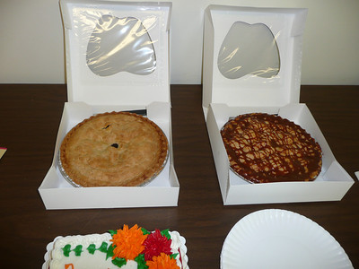 The pies - Caramel Apple Nut and Triple Berry