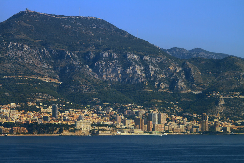 The Principality of Monaco from the ship.