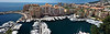 Port de Fontvieille, Monaco. (panoramic view from 8 images)