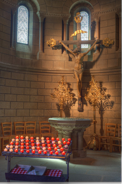 Monaco Cathedral, Altar, Candles.  (High dynamic range image)