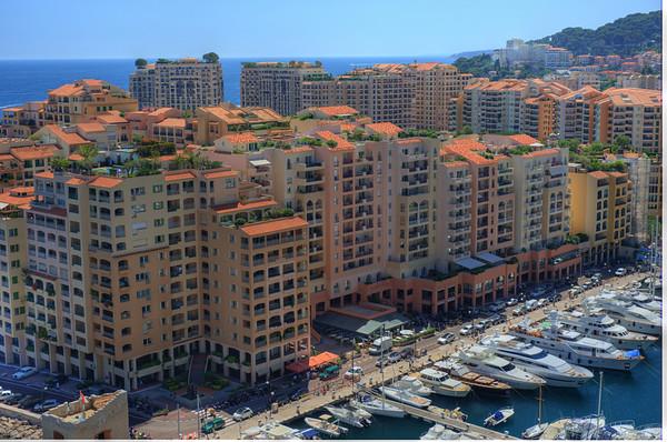 Port de Fontvieille, Monaco. (high dynamic range image)