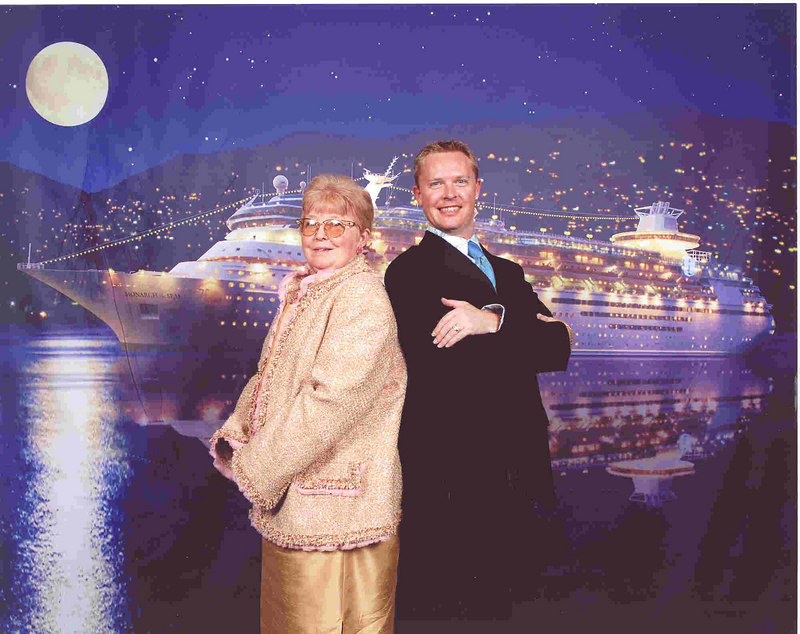 Mom & Me!! This was our official photo from Formal Night, mom likes it because she says it makes me look like a movie star. This was the only pic of us the ship's photogs took that we liked.