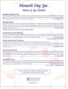 Spa services, page 1, click on it to read it.