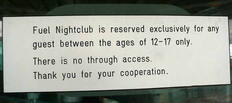Fuel Nightclub sign