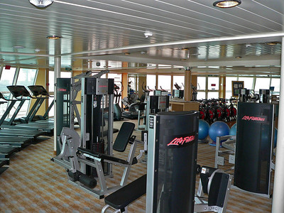 The gym (like I'd know what to do with those things...)